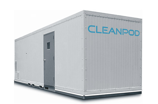 A modular cleanroom made with the Lasco 1751 Wall System